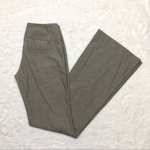 Alice + Olivia $295 Flare Pinstriped Pants Size-0